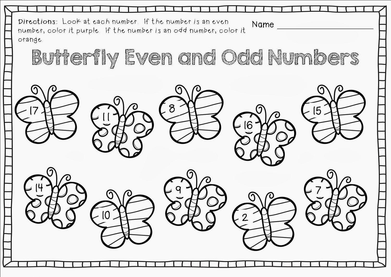 Odd Even Worksheets For Kindergarten