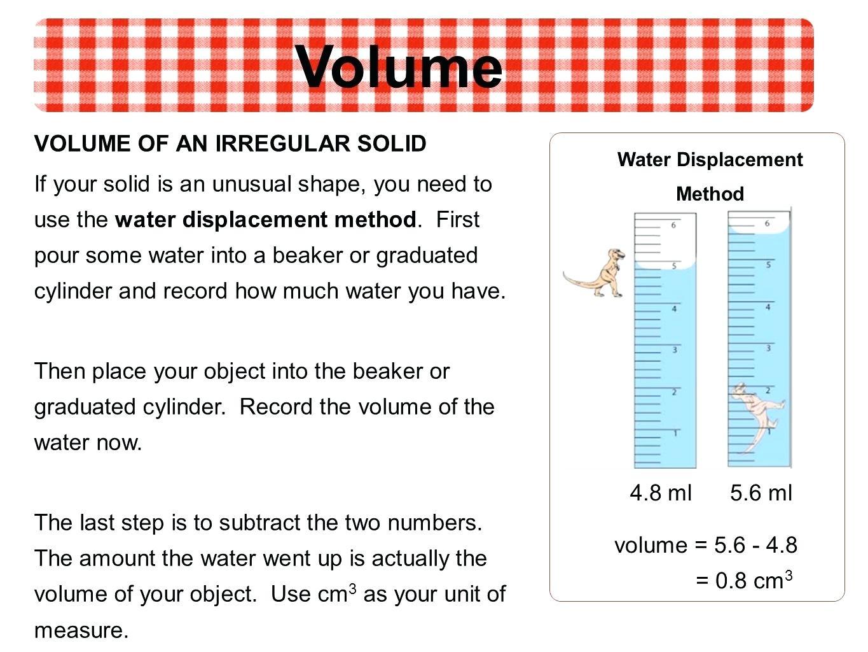Volume Of Irregular Solids Worksheets