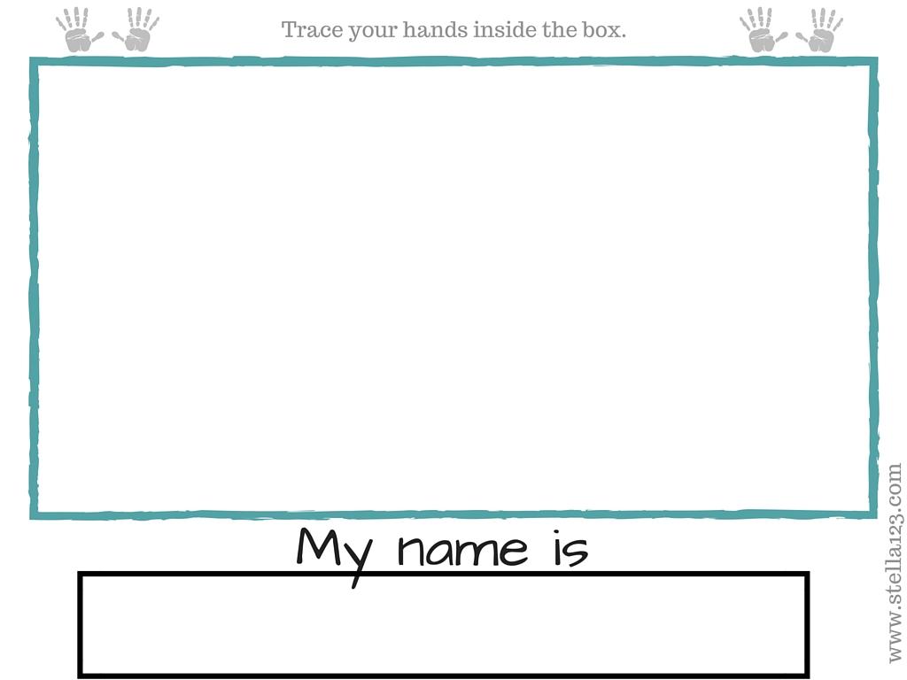 My Name Is Printable Worksheets