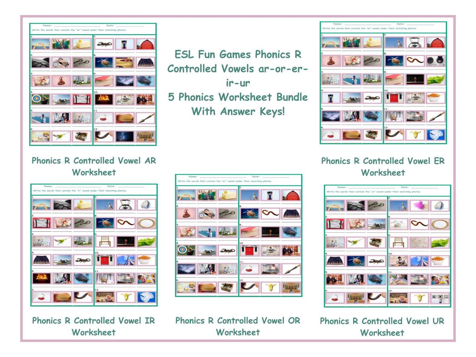 Ir Phonics Worksheets