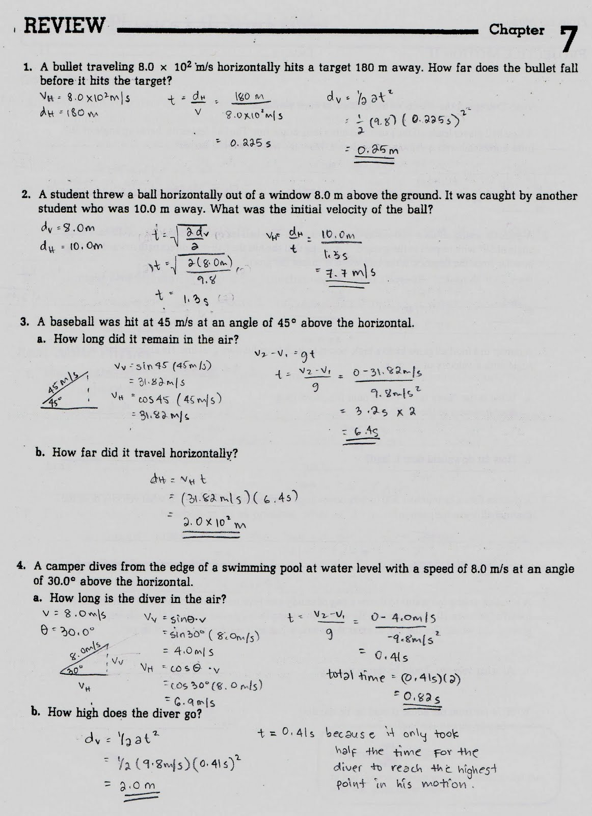 35 Projectile Motion Practice Worksheet