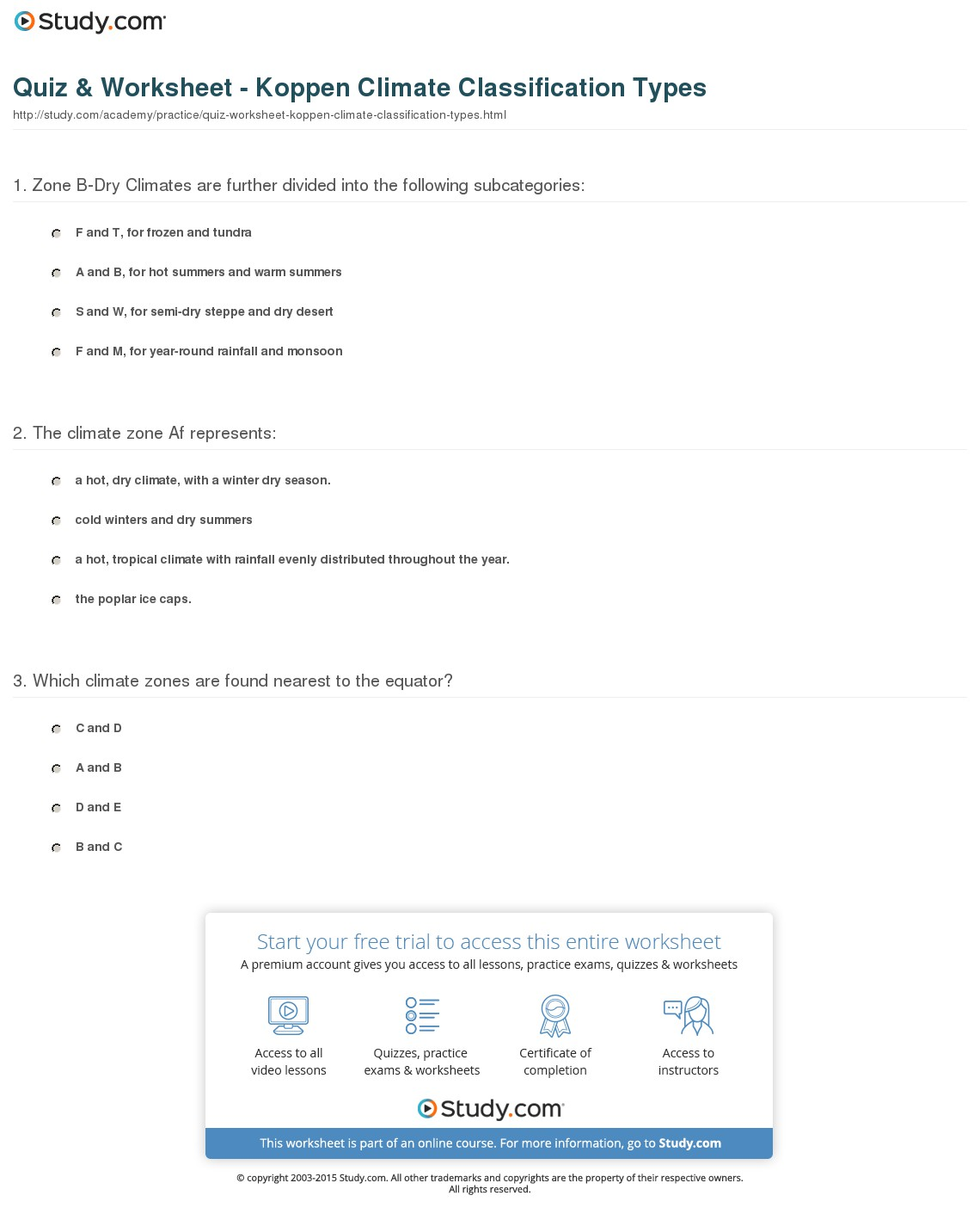 Classification Practice Worksheets