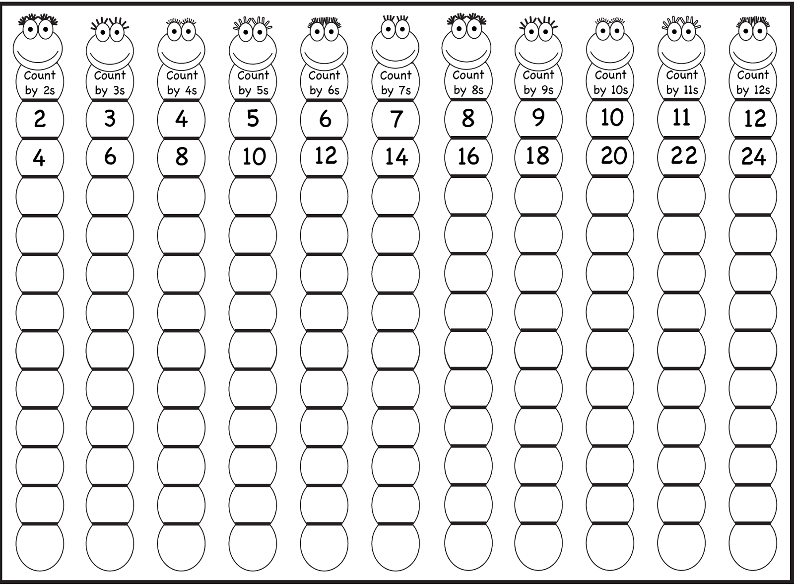 Counting By 2 5 10 Worksheets