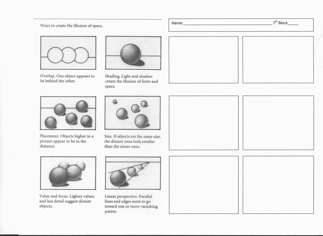 Texture Art Value Worksheet