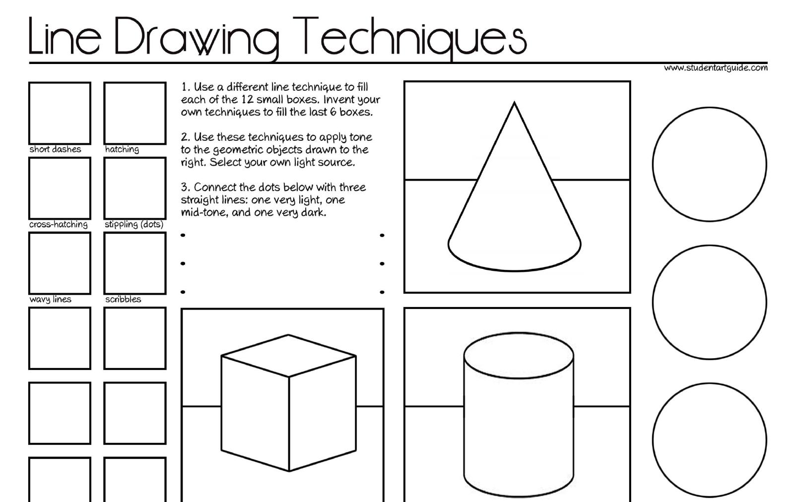 Value Art Worksheets