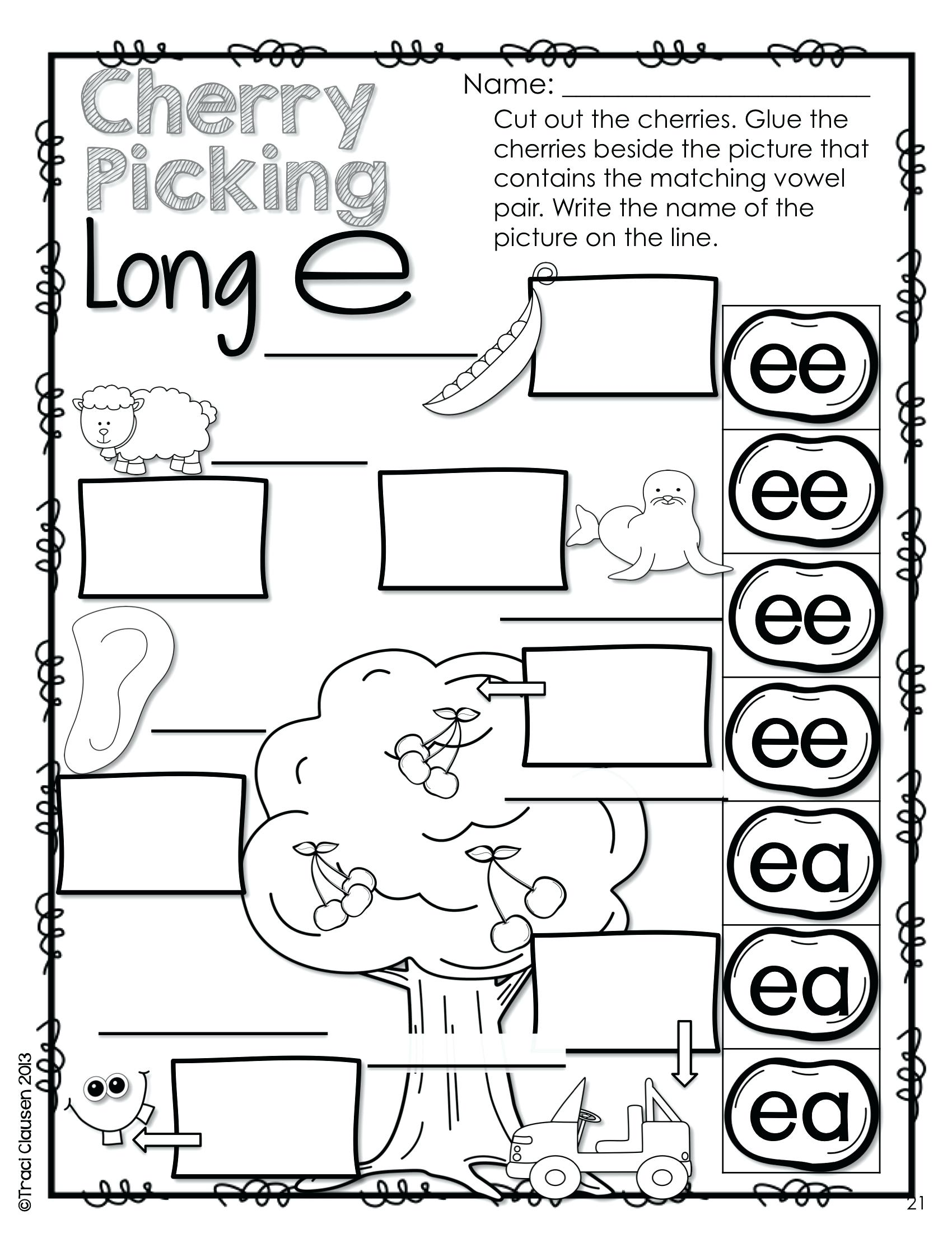 Short Vowel Sounds Worksheet 3rd Grade