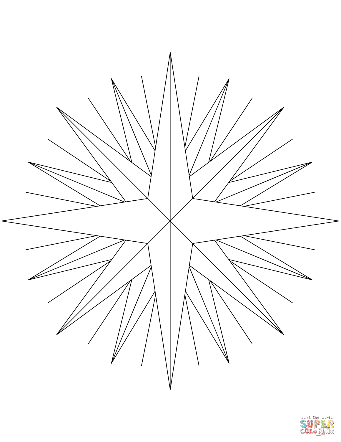 16 Point Compass Rose Worksheets