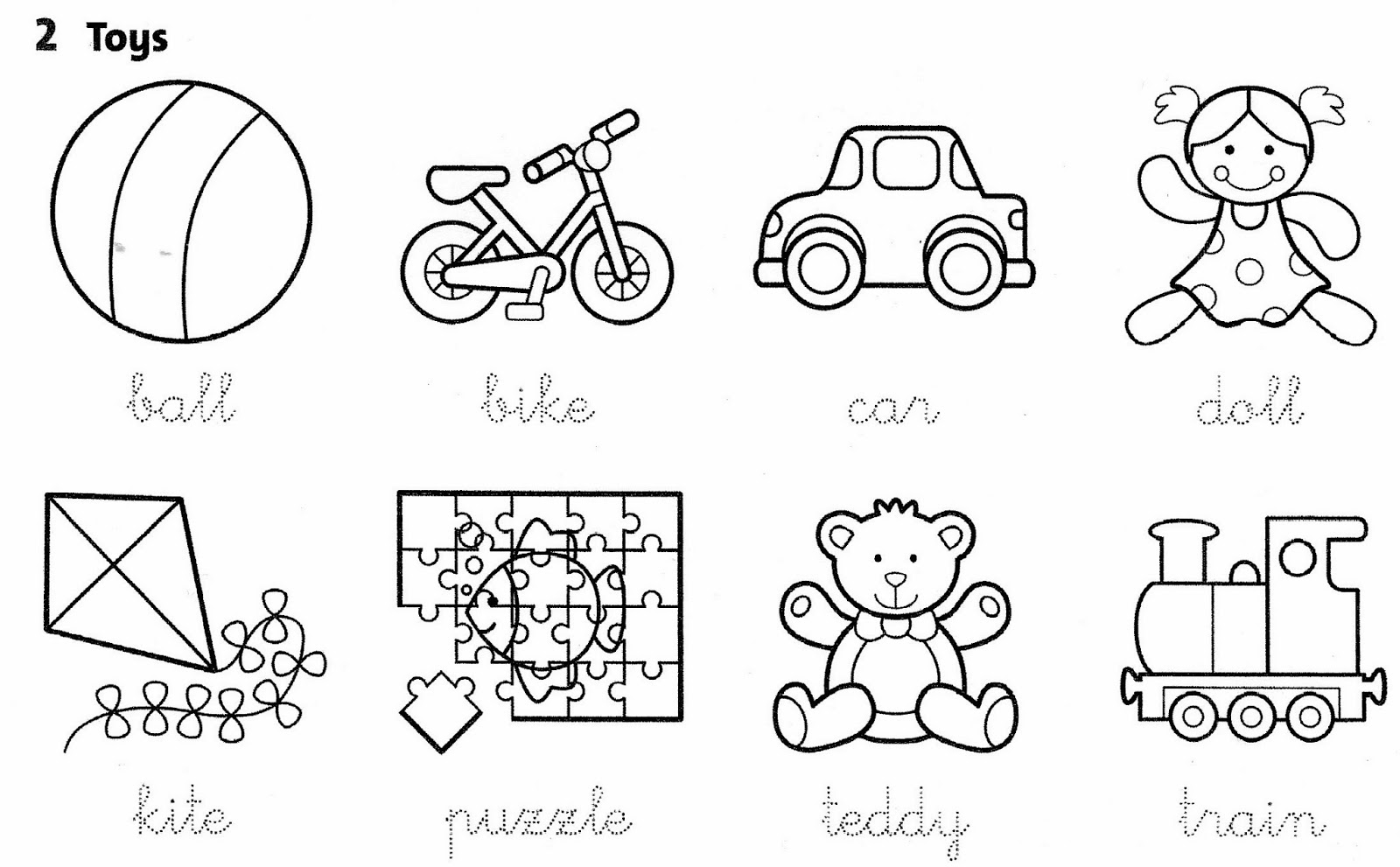 Worksheets About Toys