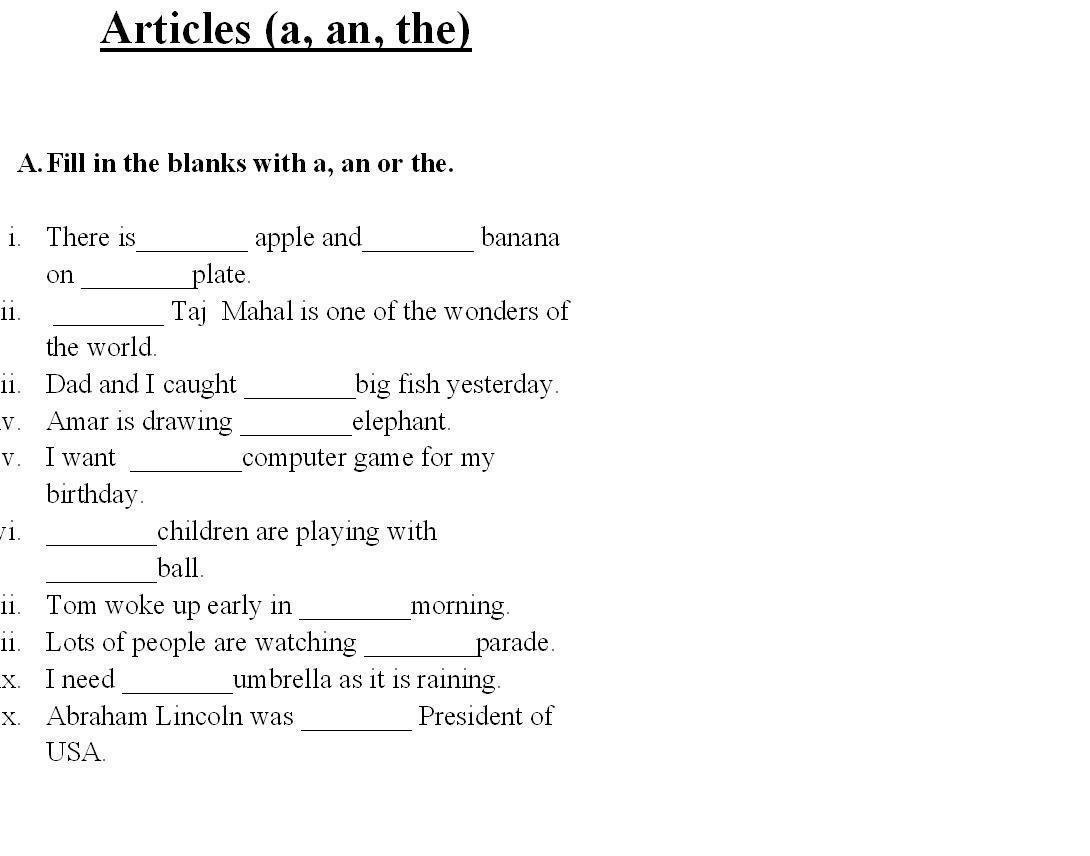 Free English Grammar Worksheets For Grade 6 Cbse
