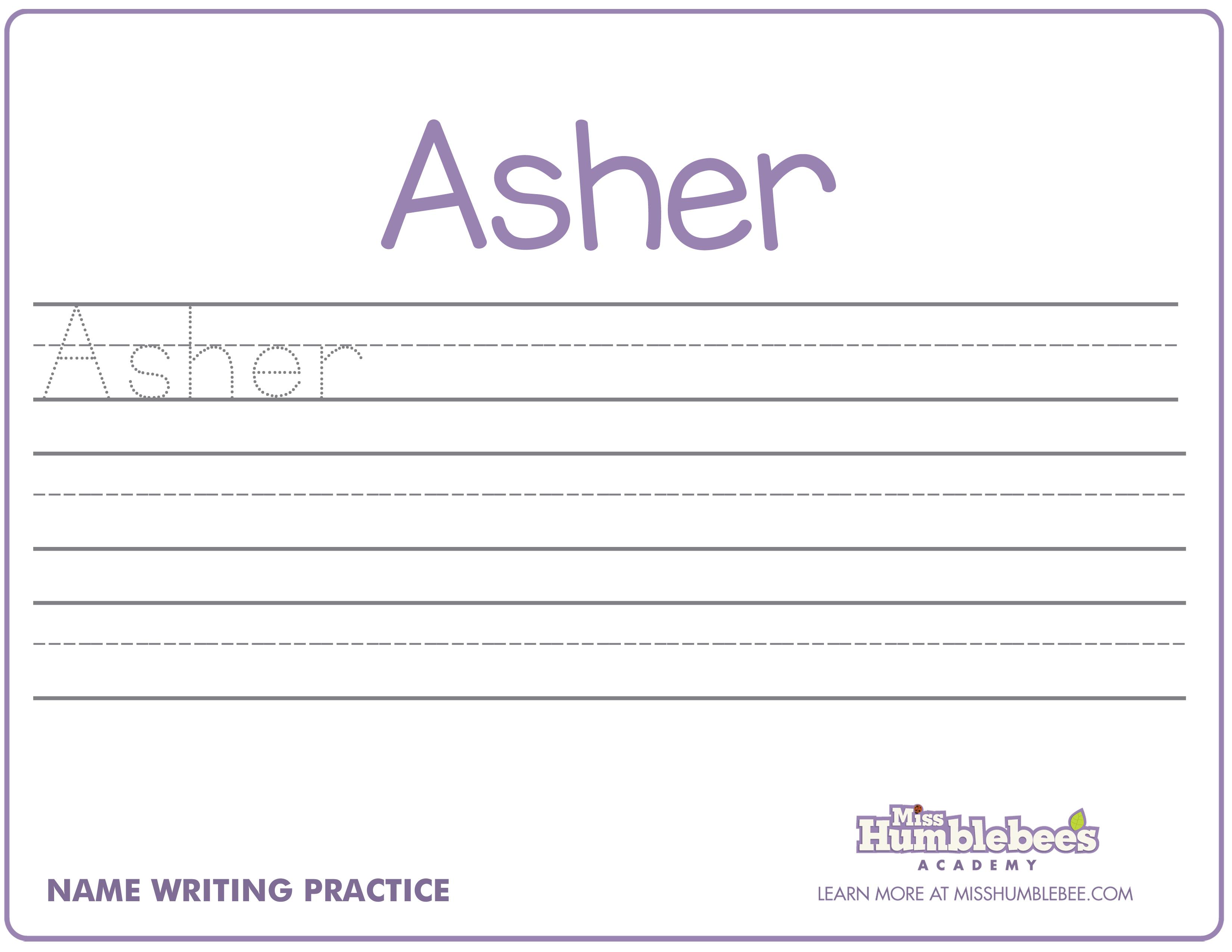 Practice Name Writing Worksheets