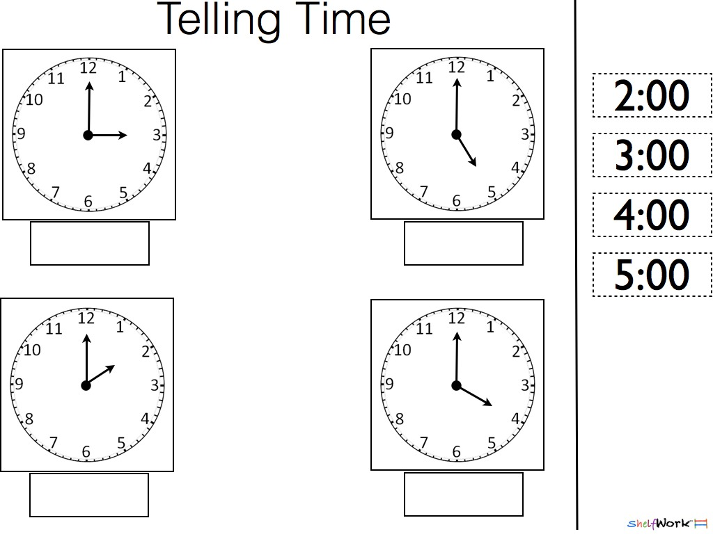 Time Concept Worksheets