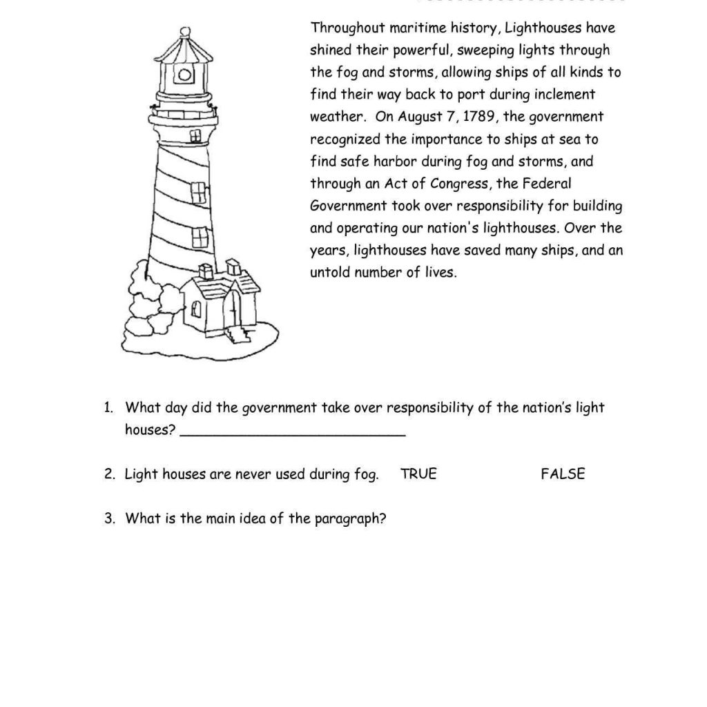 Reading Comprehension Worksheets For Grade 3 And