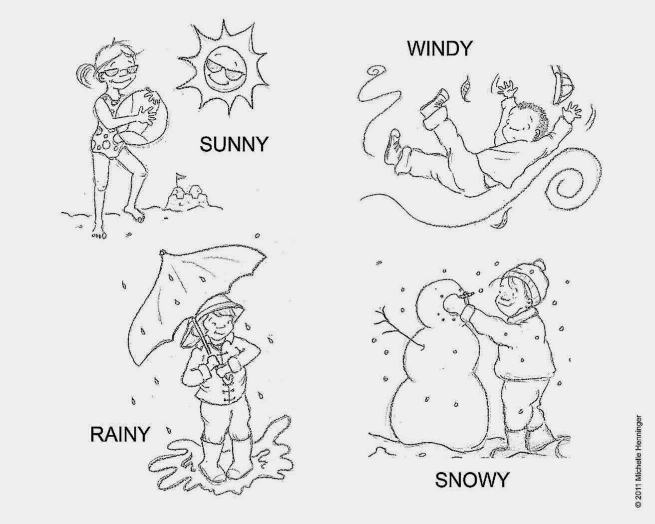 Weather Worksheets To Color