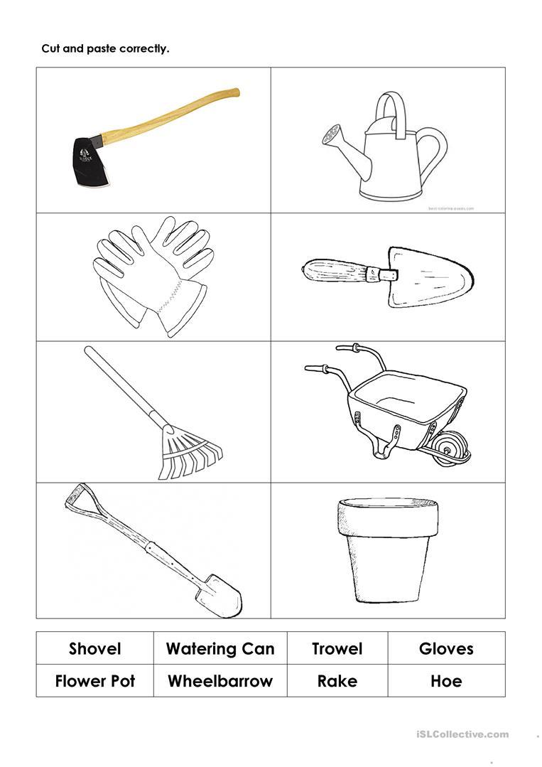 In The Garden Worksheets