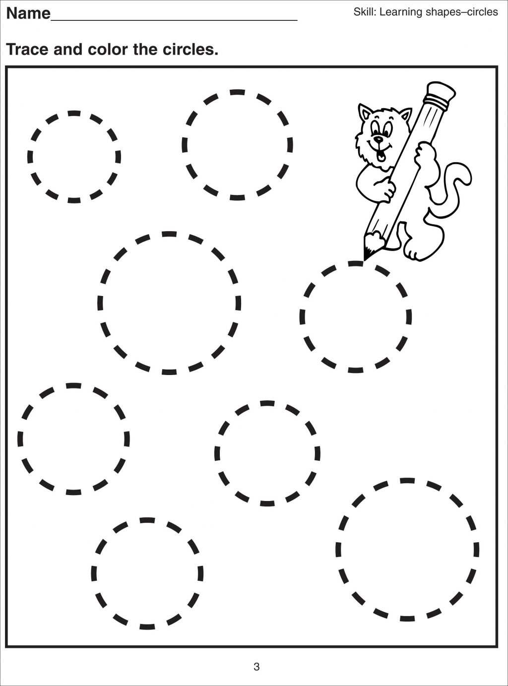 Circle Worksheets For Toddlers