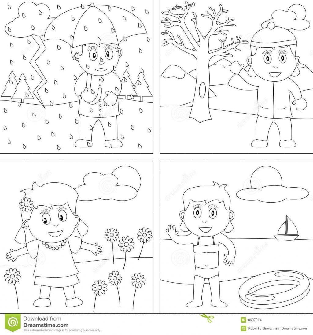 Season Worksheets For Kindergarten