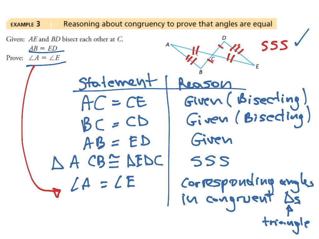 Ways To Prove Triangles Congruent Worksheet