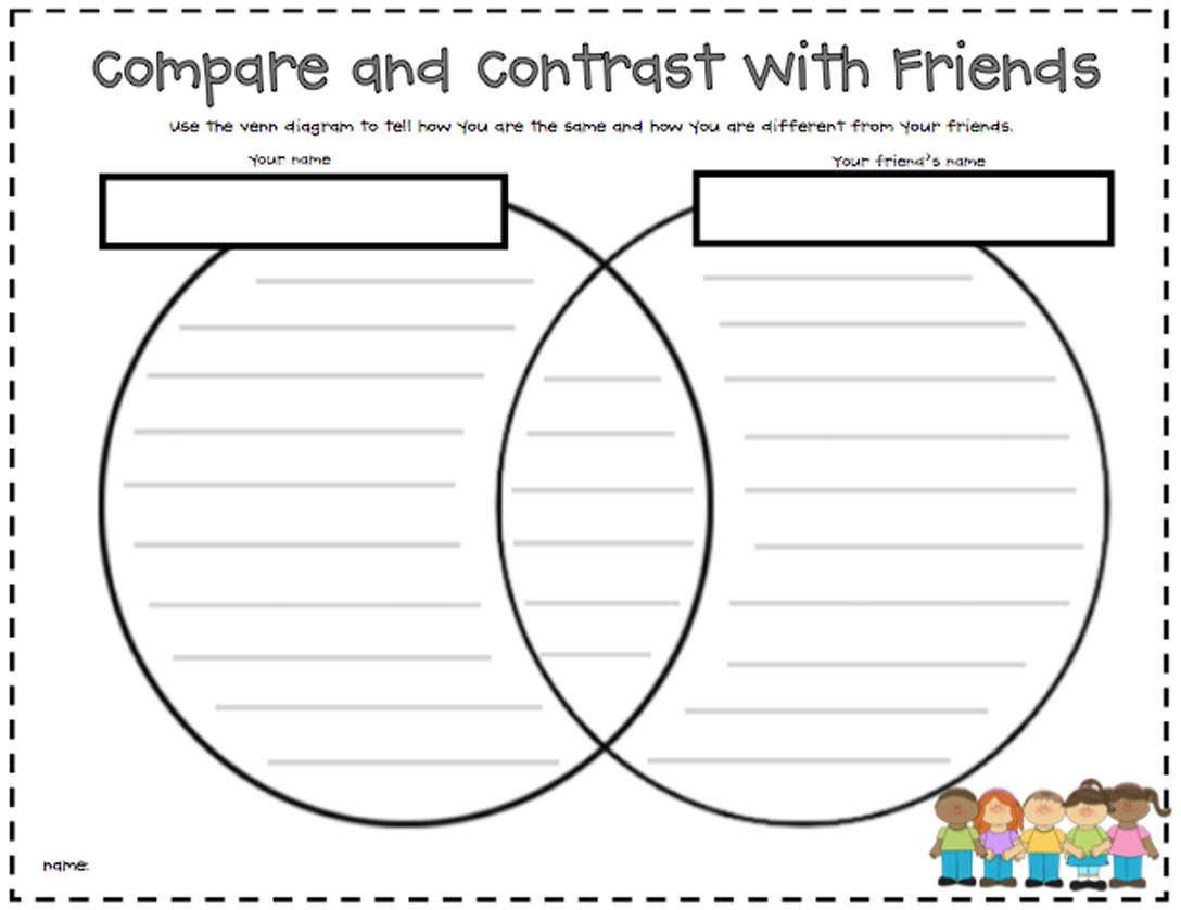 Compare And Contrast Worksheets 1st Grade