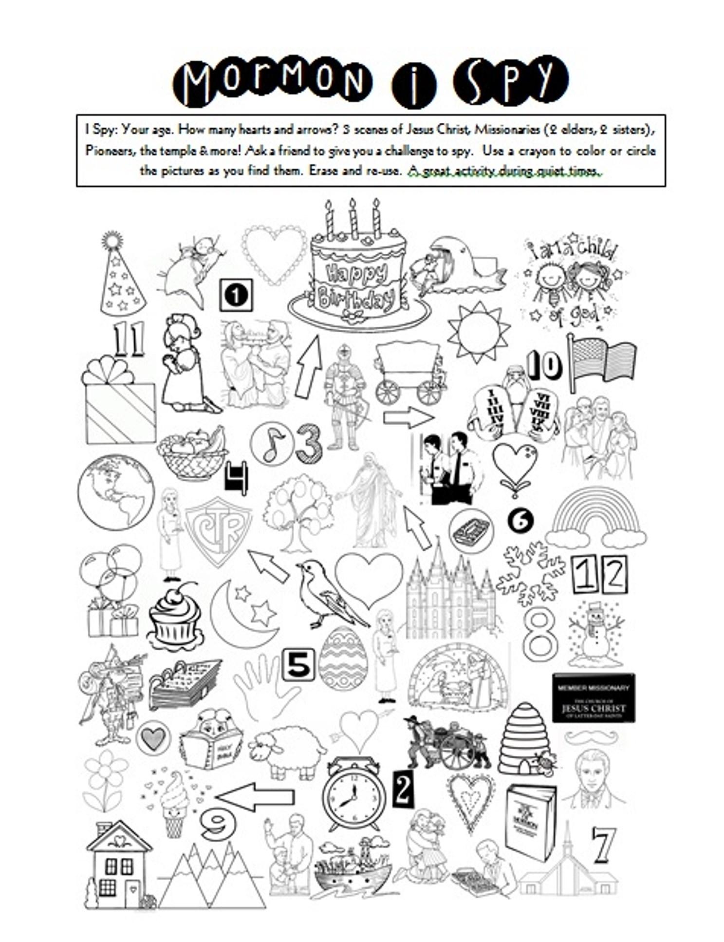 I Spy Printable Worksheets