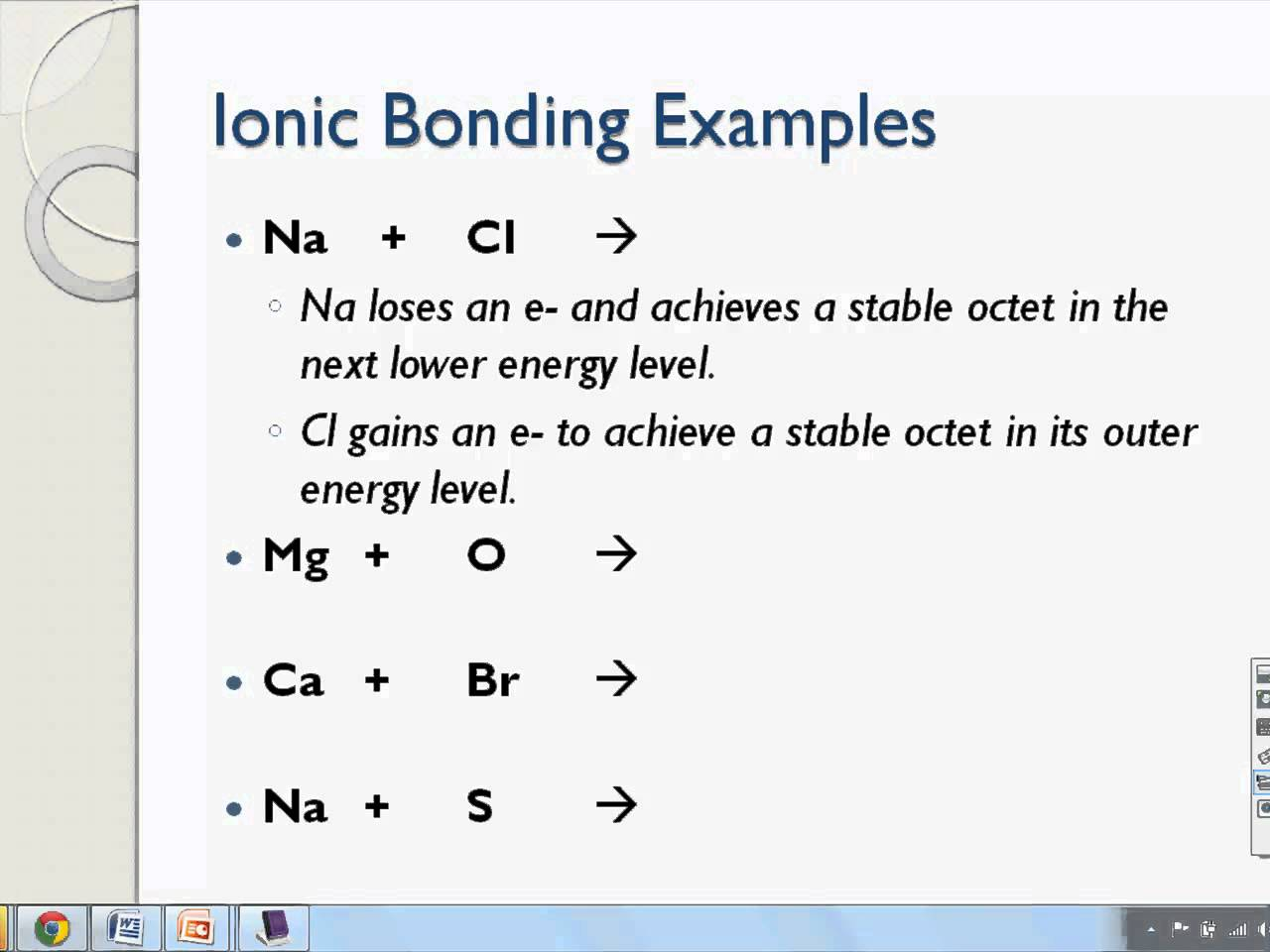 Ionic Bond Lewis Structure Worksheets