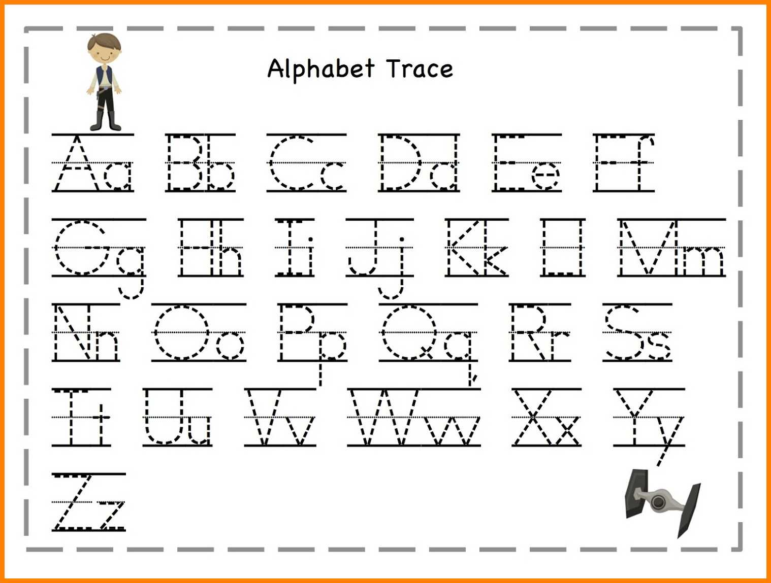 Worksheets For Alphabets Tracing