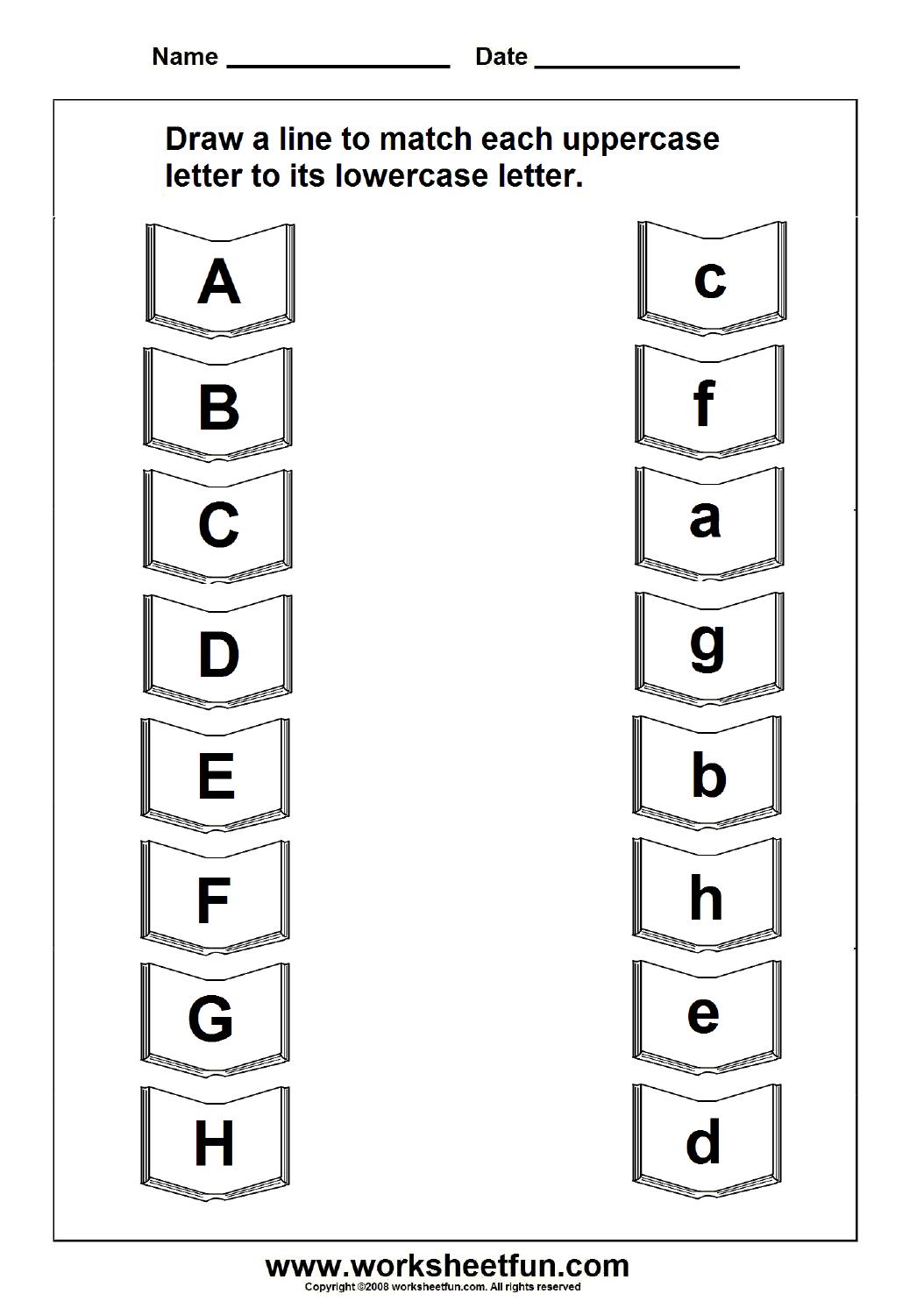 Abc Matching Worksheets Worksheets Samples