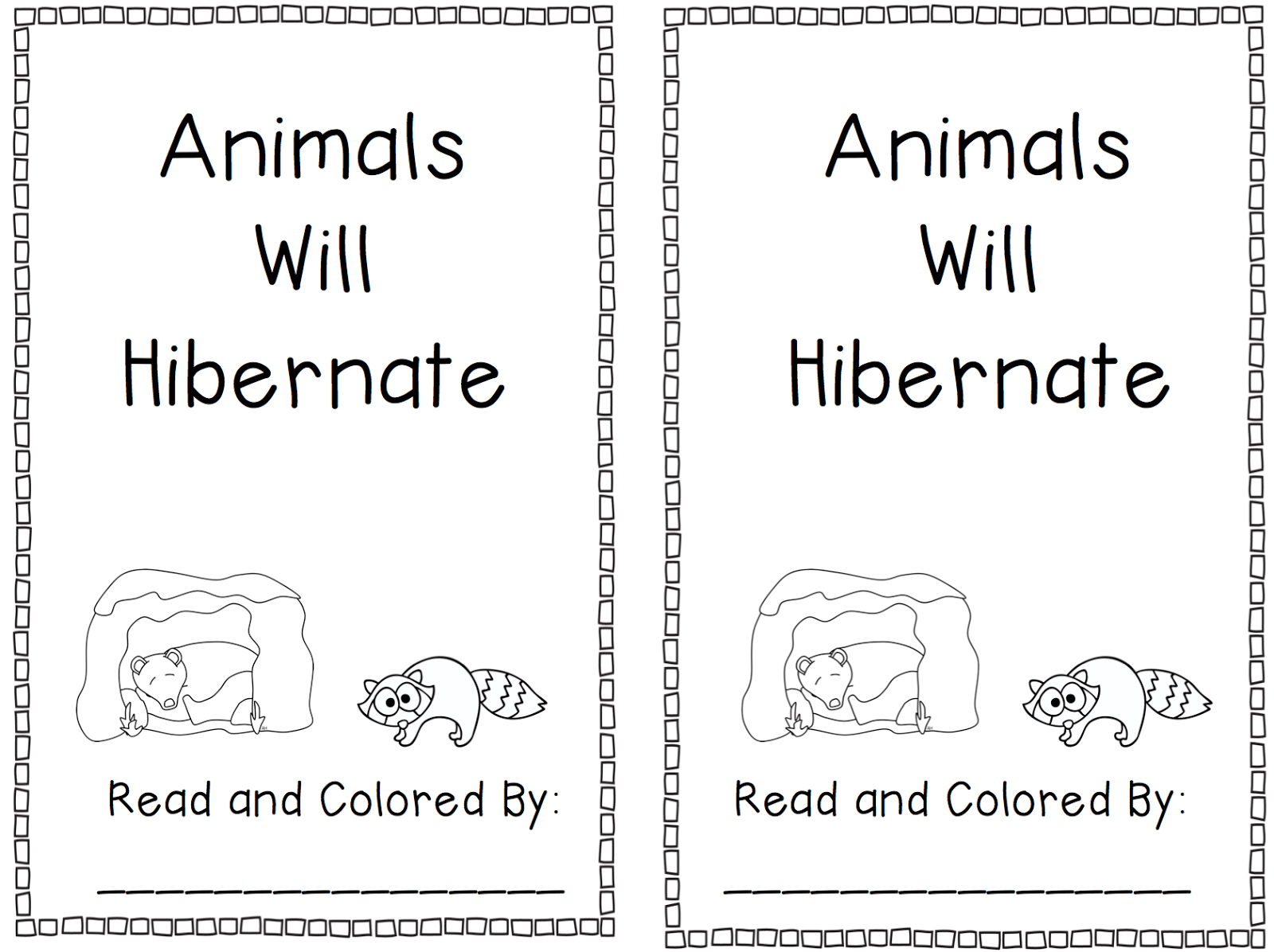 Hibernation Worksheets For Kindergarten