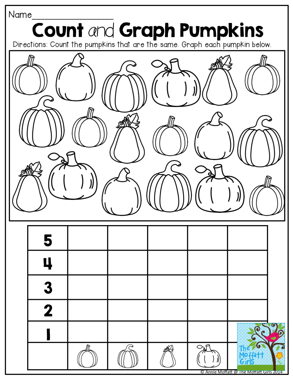 Graphing Pumpkin Worksheets