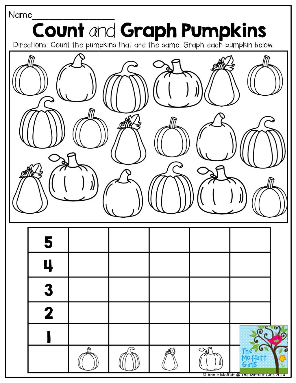 Kindergarten Halloween Count And Record Kindergarten
