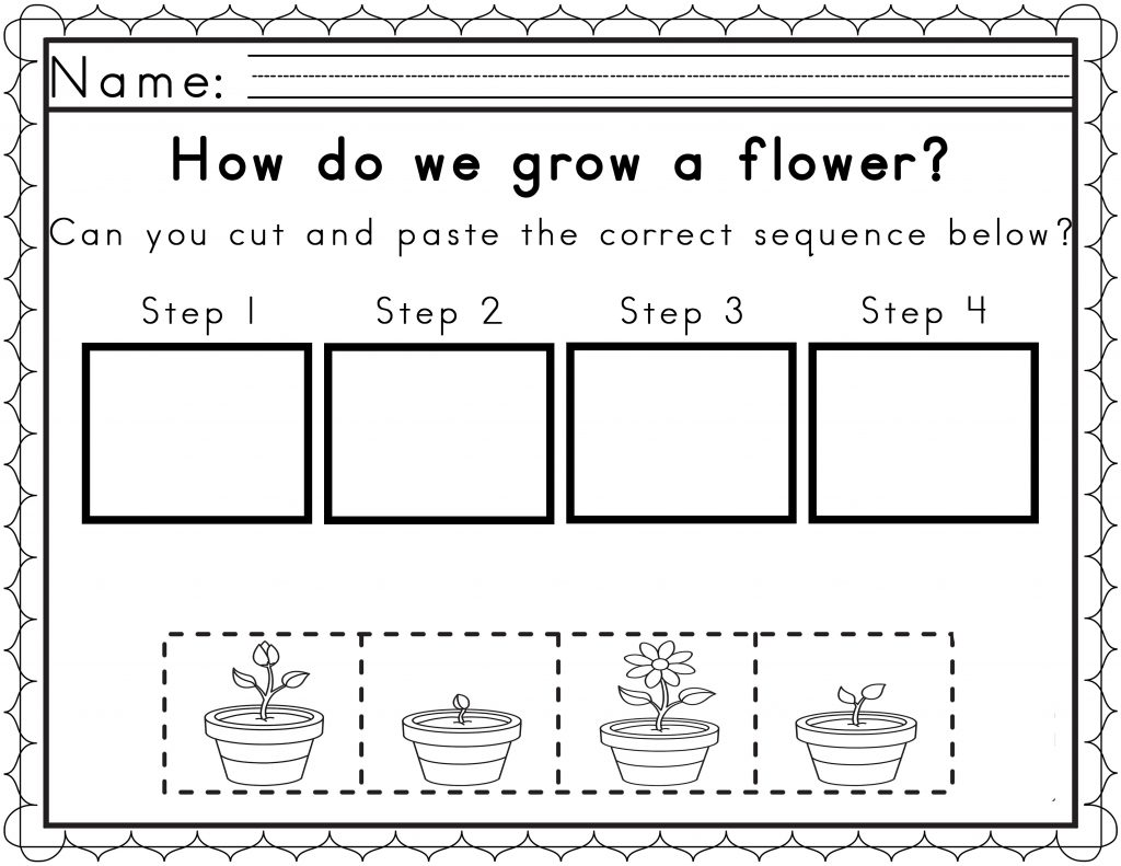 Kindergarten Story Sequencing Worksheets