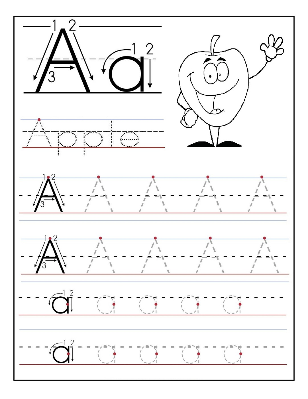 Printable Letter Tracing Worksheets