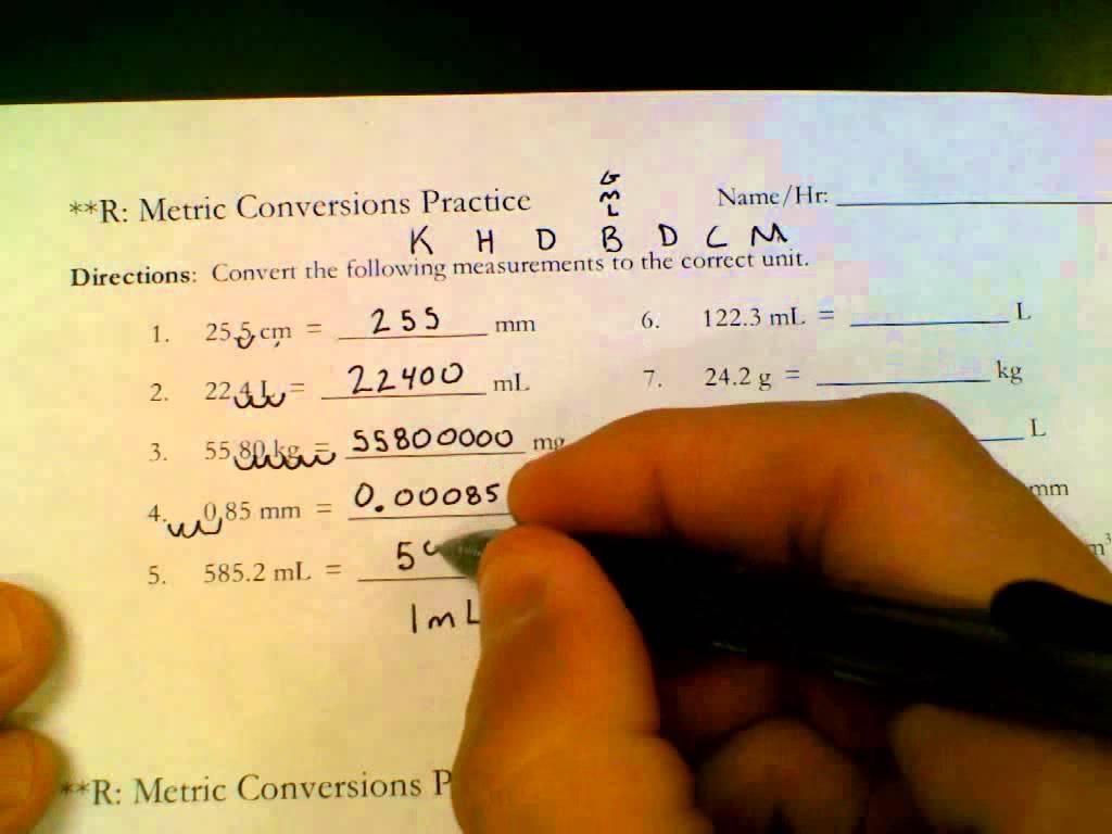 Conversion Ladder Worksheets
