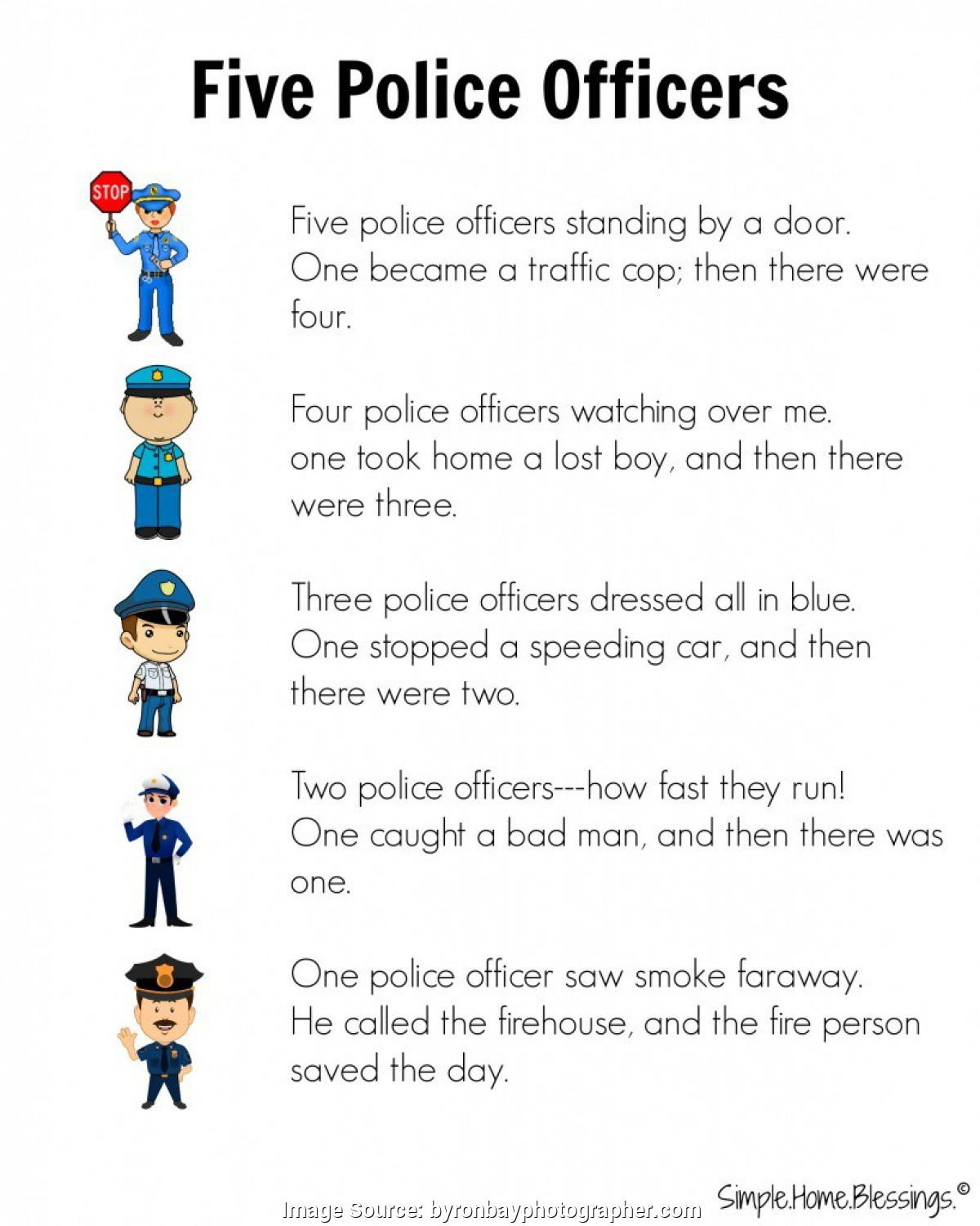 Police Officer Worksheets