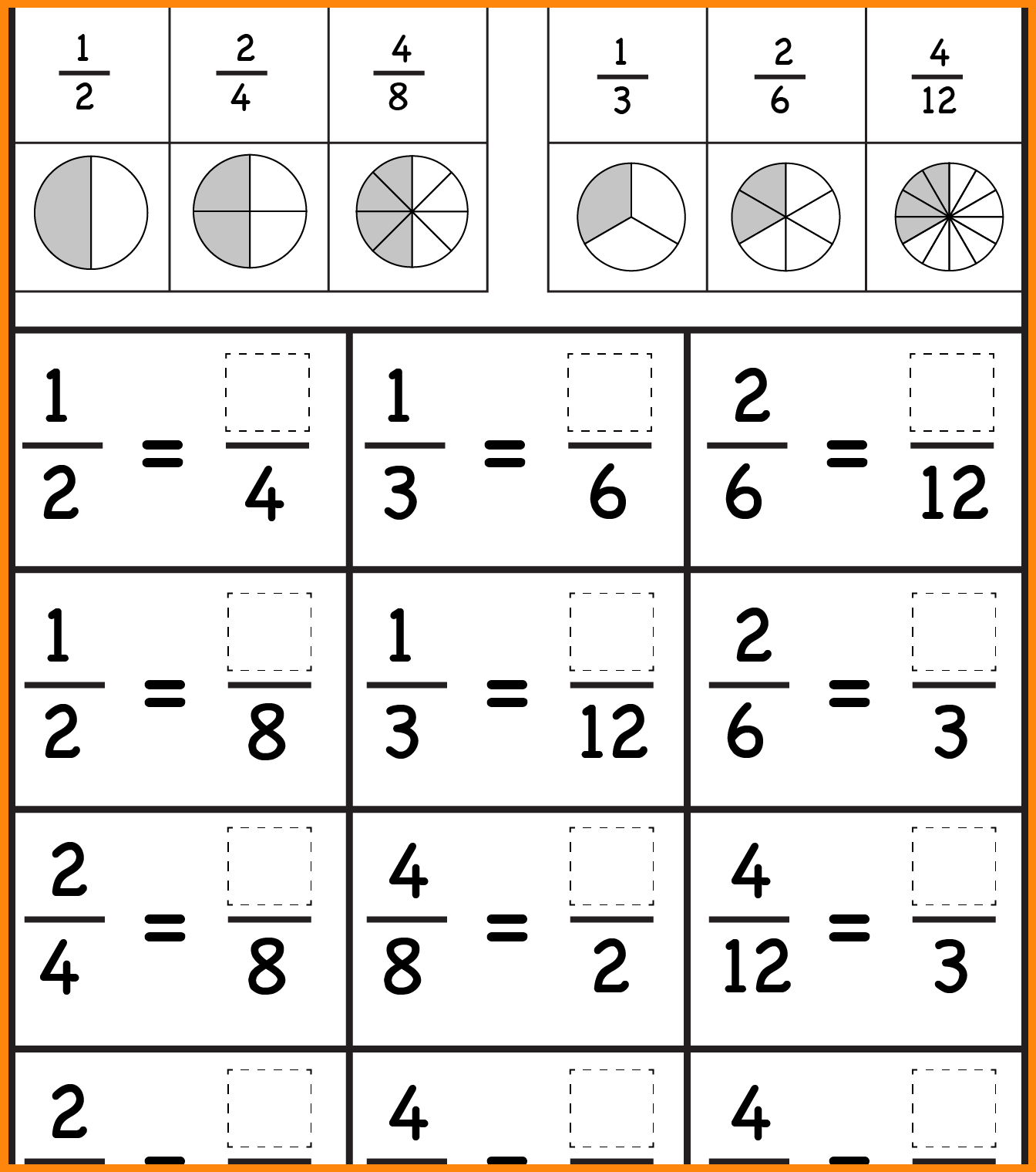Collection Of Fraction Worksheets 3rd Grade Worksheets