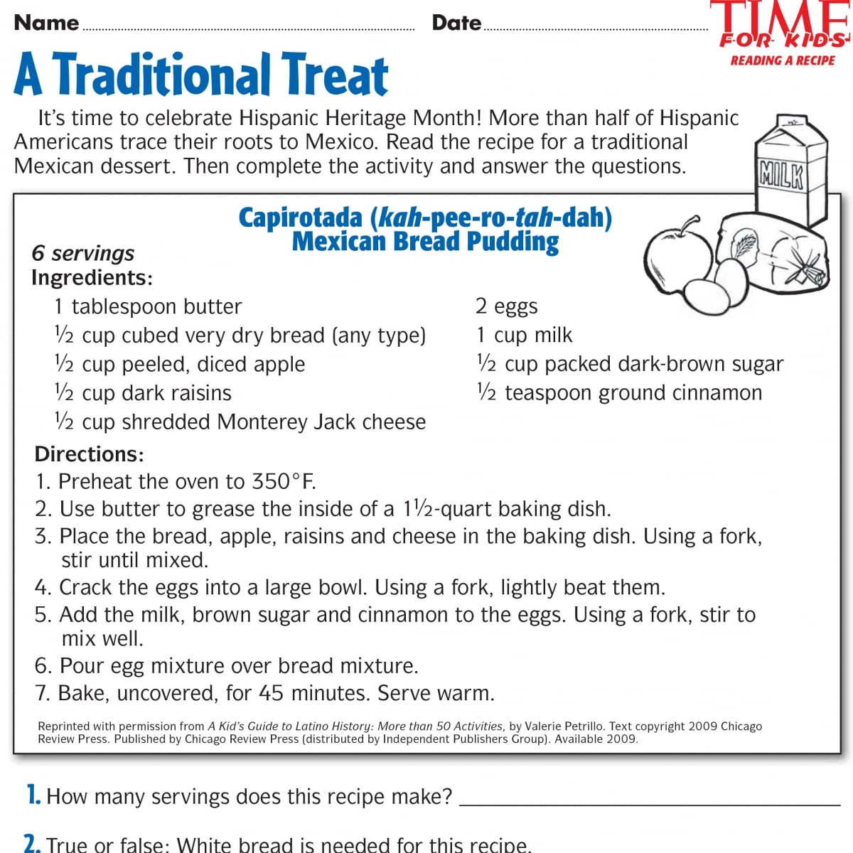 Hispanic Heritage Month Worksheets