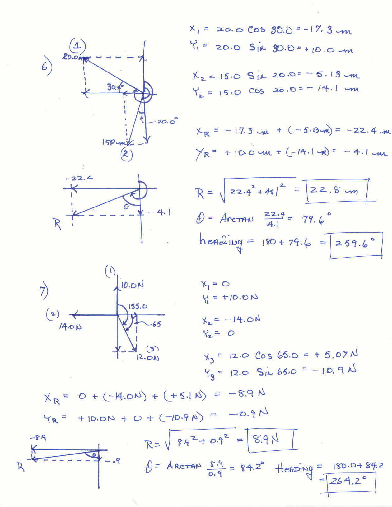 Vector Addition Worksheets Answers