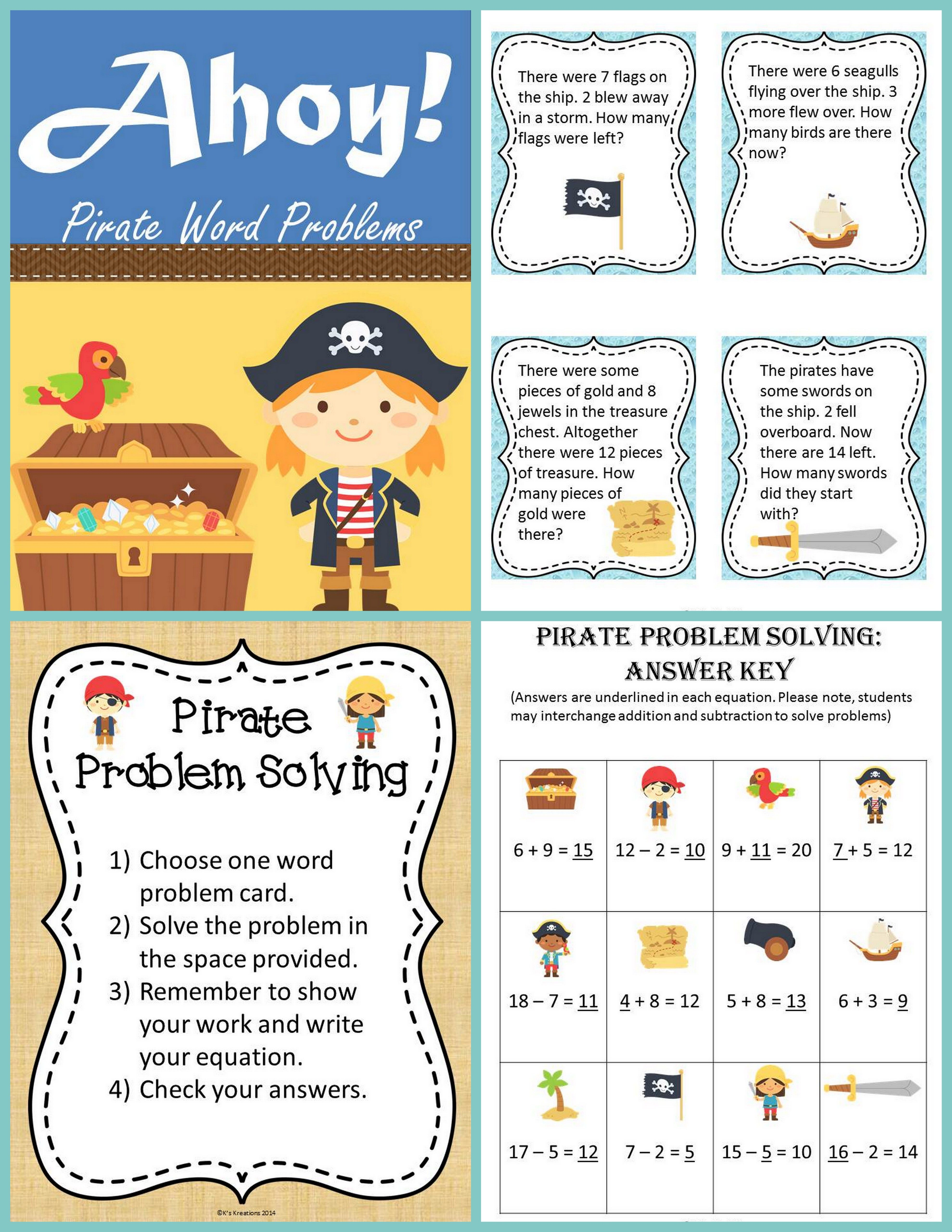 Pirate Addition Worksheets