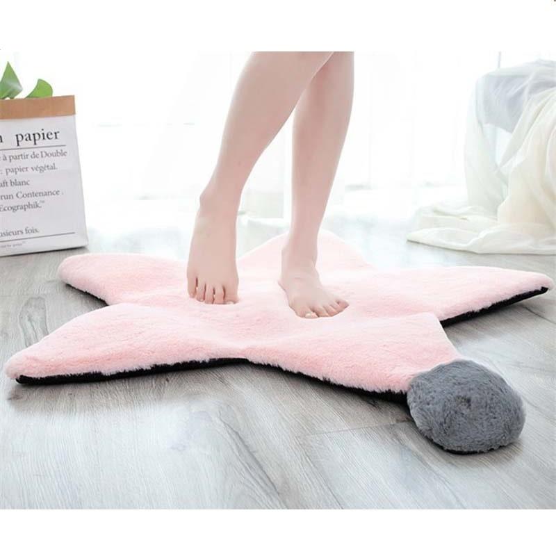 tapis rose etoile