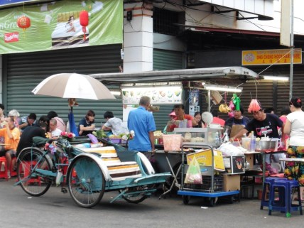 Puestos de comida callejera chinos