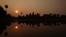 Salida del sol en Angkor Wat