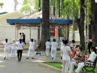 Parque en Ho Chi Minh