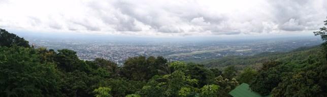 Vistas de Chiang Mai desde Doi Suthep