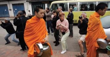 Turistas en Luang Prabang