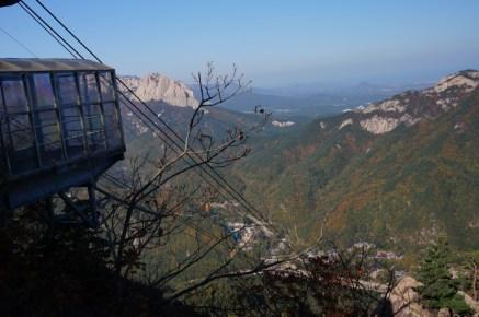 Vistas del parque Nacional de Seoraksan