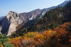 Parque natural de Seoraksan en otoño