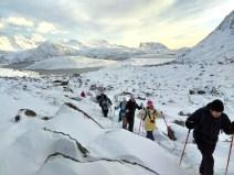 Trekking de Kvalvika, de ida