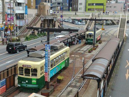 Tranvías en Nagasaki