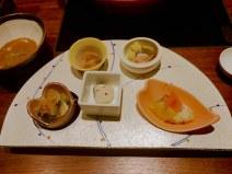 Aperitivos en cena kaiseki, Unzen