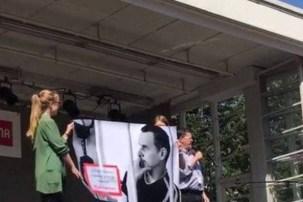 У Гельсінкі розгорнули плакат на підтримку Сенцова