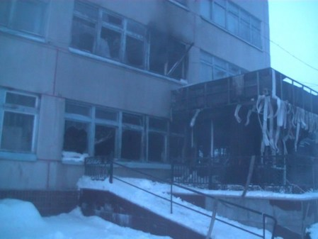 Под Харьковом горел санаторий